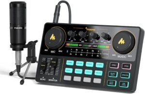 Audio Interface with DJ Mixer and Sound Card, Maonocaster