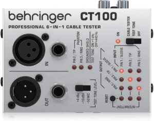 Behringer CT100 Professional 6-in-1 Instrument Cable Tester