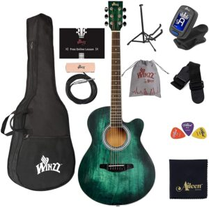 WINZZ 40 Inches Cutaway Acoustic Guitar